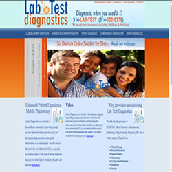 webna website design labtest diagnostics