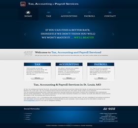 website design blue accounting