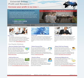 website design development blue flash website billing