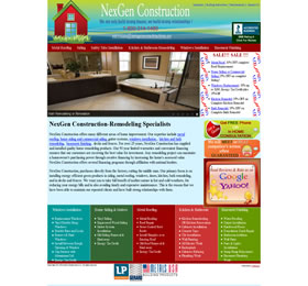 webna website design nexgen construction